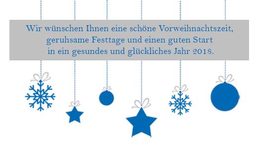 Weihnachtsgruss Wirtschaftsdienst 2017
